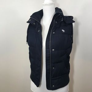Abercrombie & Fitch Down Hooded Puffer Vest Small